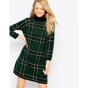 Asos Plaid Sweater Dress
